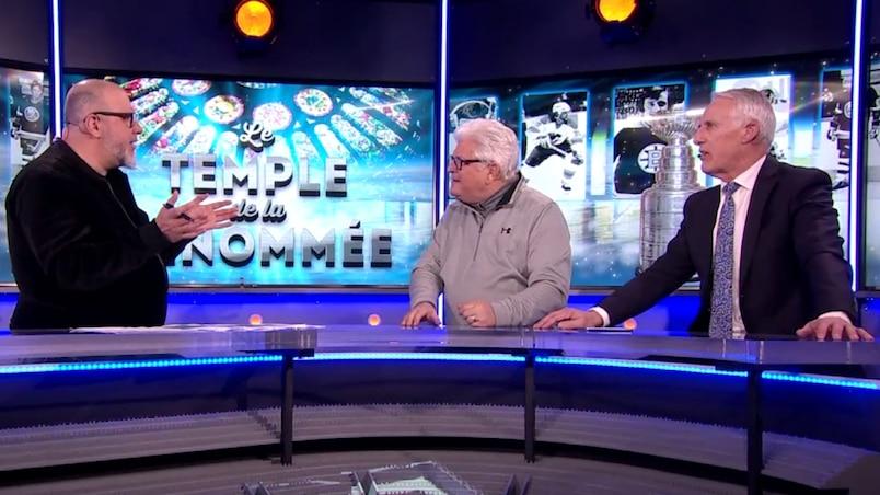 Jean-Charles Lajoie, Yvon Pedneault et Mike Bossy