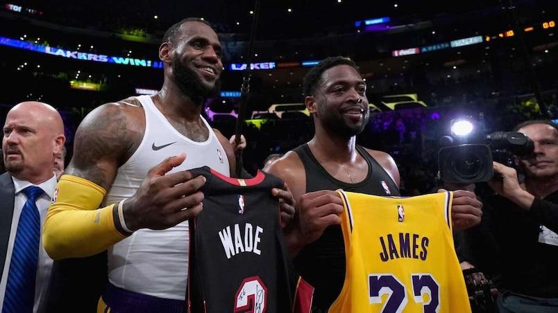 LeBron James et Dwyane Wade