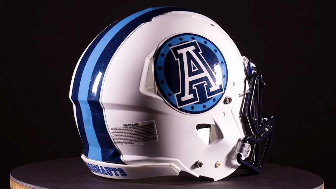 Toronto Argonauts new Reebok Signature uniforms. The new uniforms feature cambridge blue is featured prominently throughout the uniform, a departure from the traditional Oxford Blue.