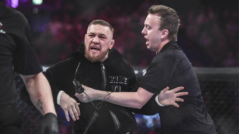 Conor McGregor invades ring at Bellator 187