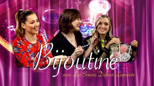 Kevin fait des bijoux avec les soeurs Dufour-Lapointe