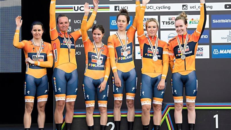 L'équipe de Karol-Ann Canuel vice-championne du monde au contre-la-montre