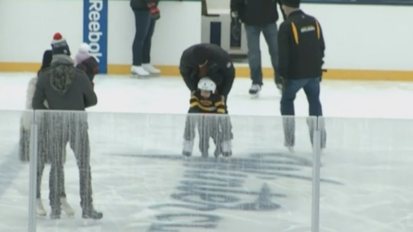 Maxime Talbot a patiné avec son fils.