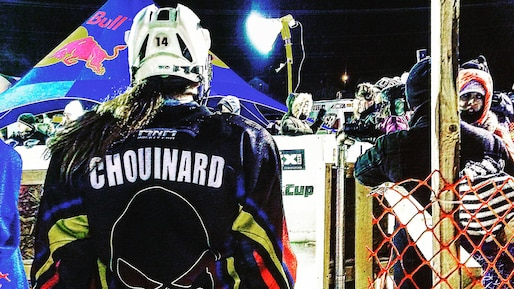 Chouinard au Red Bull Crashed Ice de St. Paul