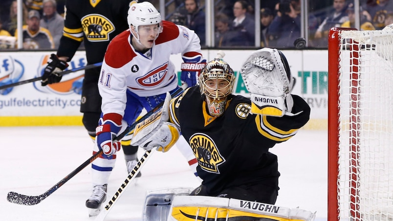 Brendan Gallagher et Tuukka Rask