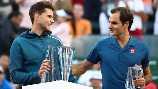 Dominic Thiem et Roger Federer