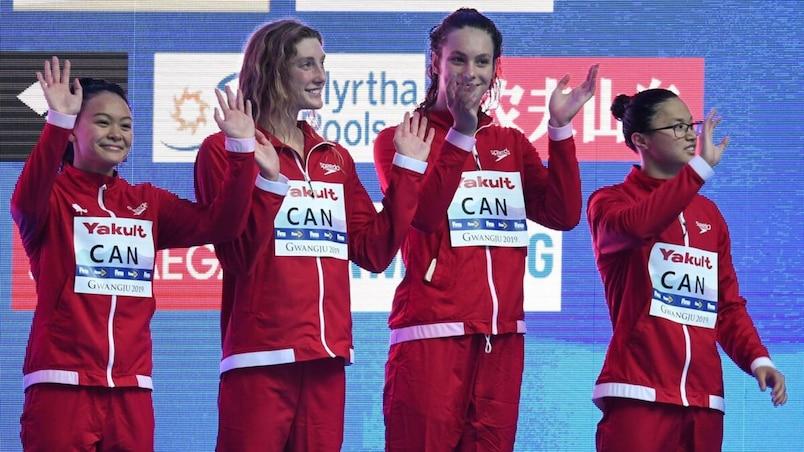 Mondiaux de la FINA : les Canadiennes gagnent le bronze au relais