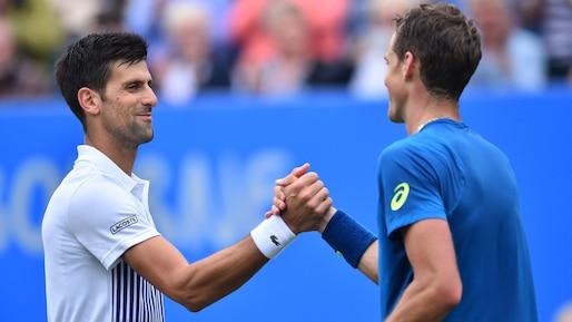 Novak Djokovic trop fort pour Vasek Pospisil