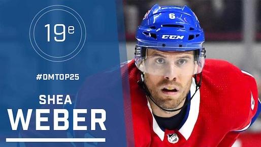 Le top-25 de la LNH: Shea Weber, #19
