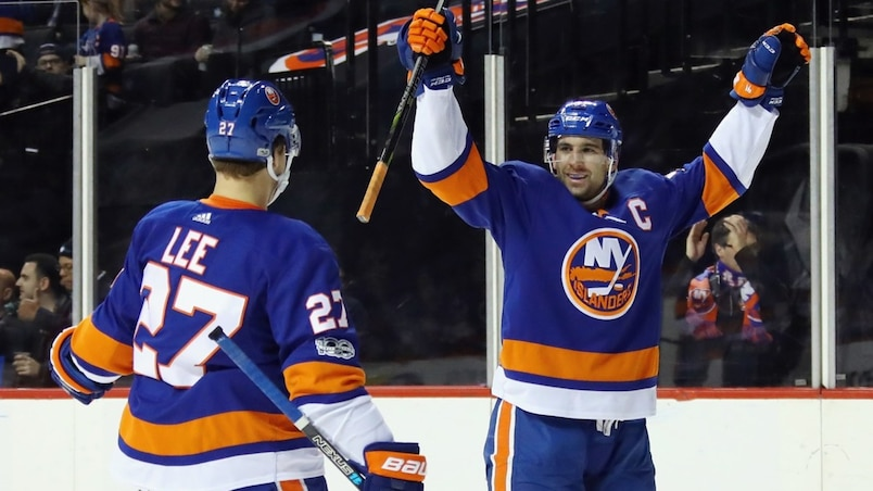 Anders Lee et John Tavares