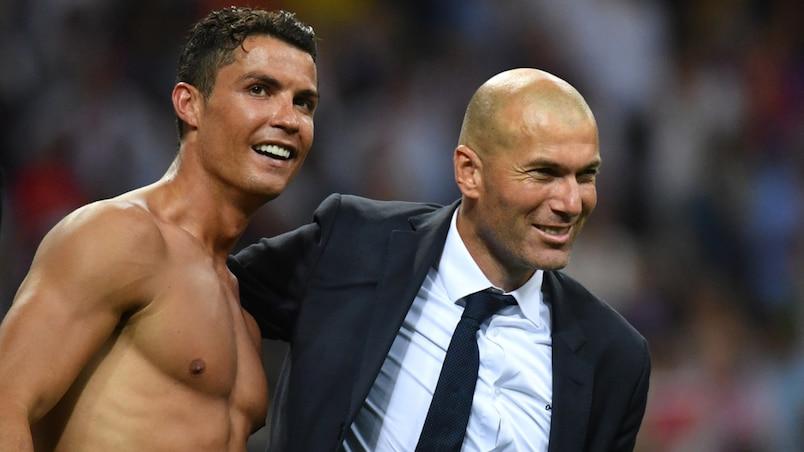 Cristiano Ronaldo et Zinédine Zidane