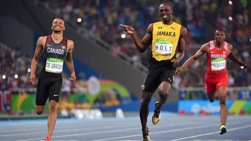 Bolt et De Grasse s'amusent