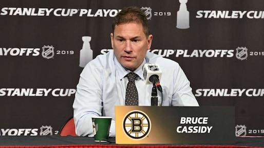 L'entraîneur-chef Bruce Cassidy