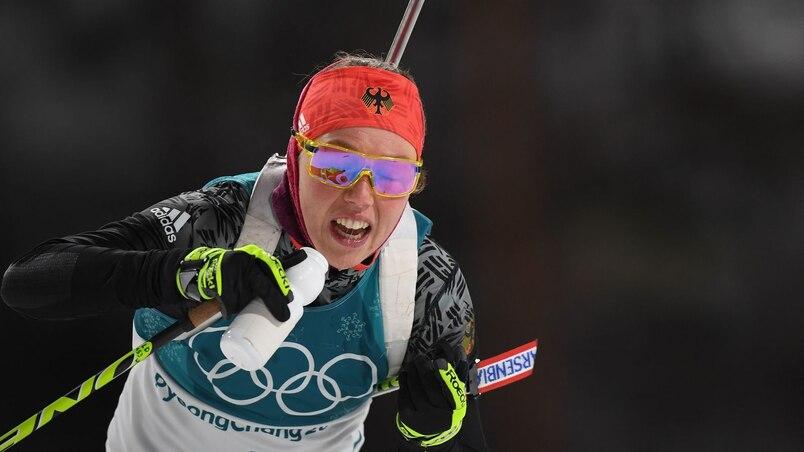 Biathlon: Dahlmeier confirme qu'elle poursuit sa carrière