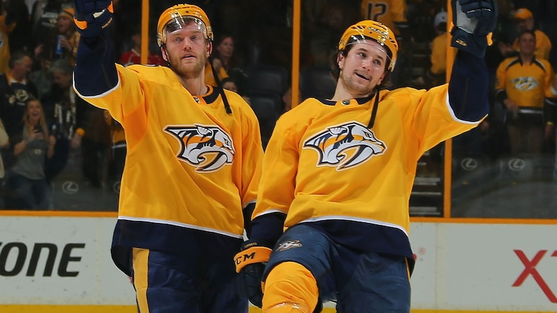 Filip Forsberg propulse les Predators