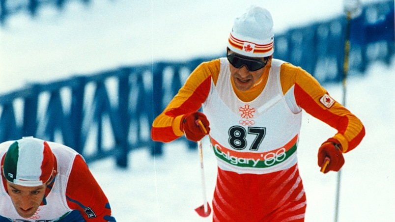 QMI CALGARY- Pierre Harvey in the menÕs 30-km cross-country event during the 1988 Winter Olympics, held in Calgary, Alberta. Calgary Sun file photo