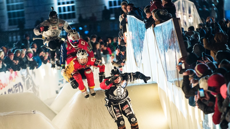 Scott Croxall (CAN), Dylan Moriarity (CAN), Dean Moriarity (CAN), Luca Dallago (AUT) - Action