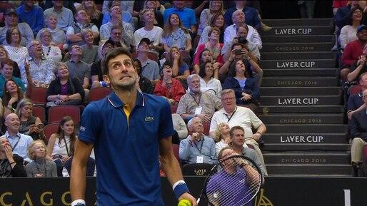 Coupe Laver: Novak Djokovic atteint Roger Federer de plein fouet