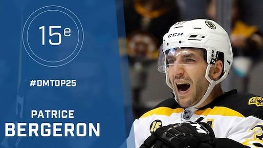Le top 25 de la LNH : Patrice Bergeron, #15