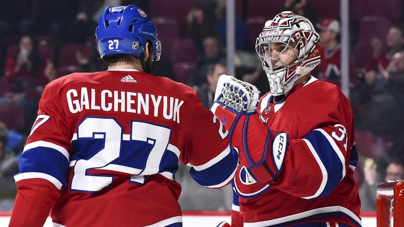 Alex Galchenyuk et Carey Price