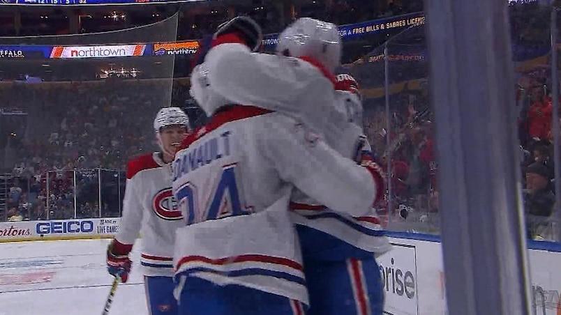Chiarot inscrit habilement son premier but avec les Canadiens