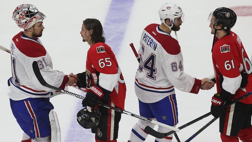 Les Canadiens ont éliminé les Sénateurs en six matchs, dimanche.