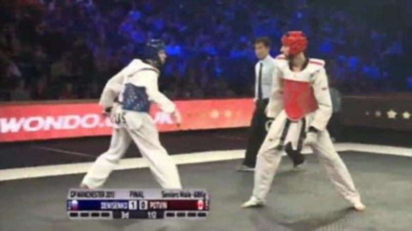 Maxime Potvin, espoir canadien en taekwondo