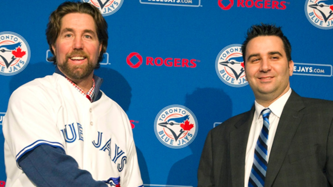 R.A. Dickey et Alex Anthopoulos