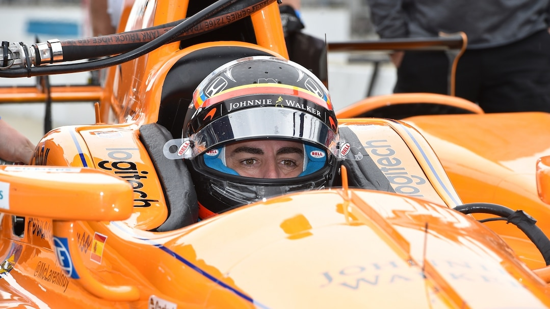 Fernando Alonso during testing for the IndyCar 500 at the Indianapolis Motor Speedway  Featuring: McLAREN-HONDA INDYCAR with Fernando ALONSO Where: Indianapolis, Indiana, United States When: 03 May 2017 Credit: ATP/WENN.com  **Not available for TV, Print in Germany. No Contact Music. Not Available in Latvia**