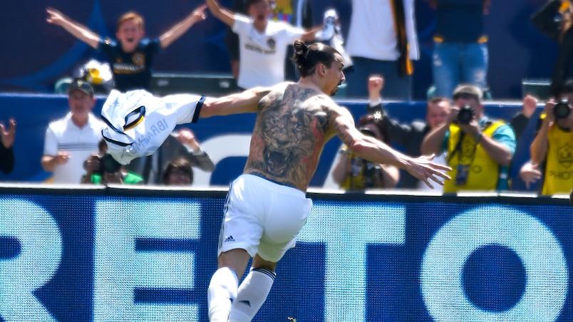 Le premier but de Zlatan, le plus beau de l'année en MLS