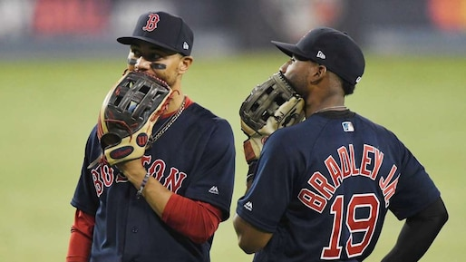 Mookie Betts et Jackie Bradley fils