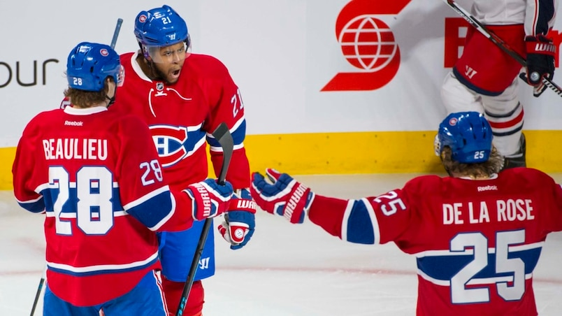 Nathan Beaulieu, Devante Smith-Pelly et Jacob De La Rose