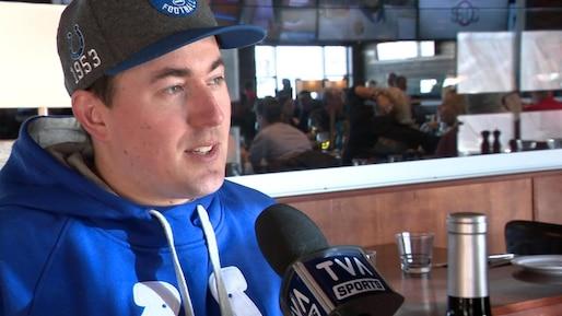 Le quart-arrière des Colts d'Indianapolis... à Québec!
