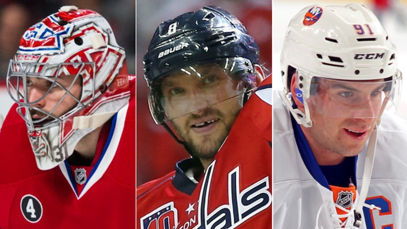 Carey Price, Alexander Ovechkin et John Tavares.