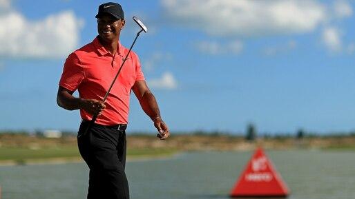 Tiger Woods en action à la fin janvier