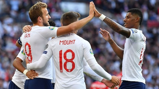 Euro 2020: Kane et Sterling prolongent le sans-faute anglais
