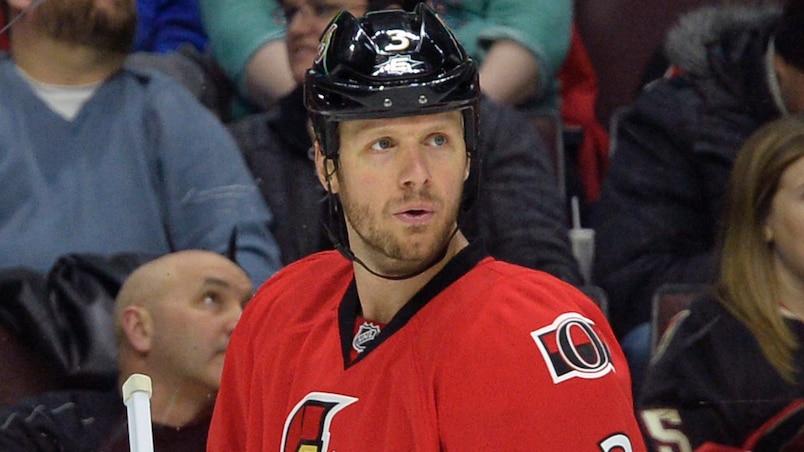 Ottawa Senators' #3 Marc Methot