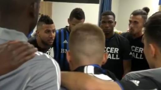 À VOIR : Saphir Taïder enflamme les siens avant le match contre les Sounders