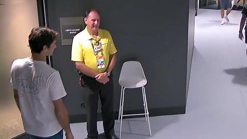 Quand Federer se fait refuser l'accès au vestiaire