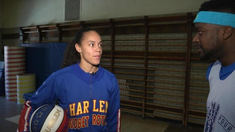 Briana «Hoops» Green en entrevue à TVA Sports