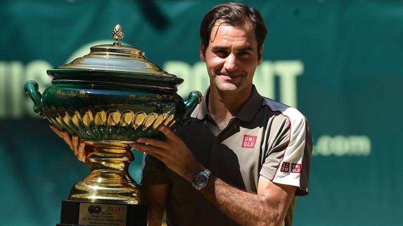 Un 10e titre à Halle pour Roger Federer