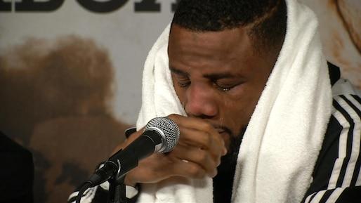 Pascal en larmes après la défaite...