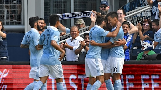 Le Sporting dominant face au Galaxy