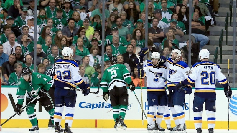 Les Blues à un gain de la finale de l'Ouest