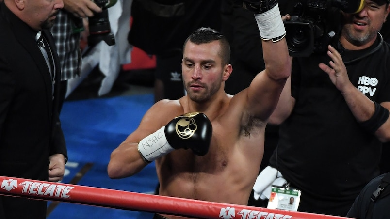 David Lemieux et Junior Ulysse en action à New York