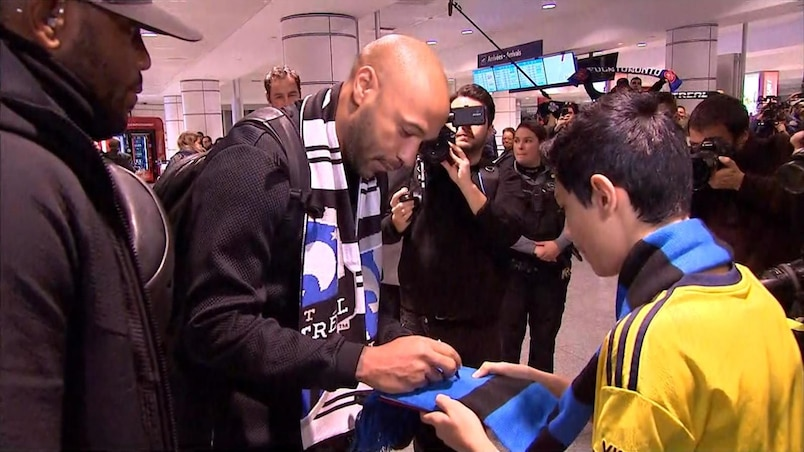À VOIR : Thierry Henry débarque à Montréal!
