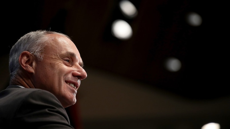 US-MLB-COMMISSIONER-ROB-MANFRED-DISCUSSES-STATE-OF-BASEBALL-AT-N
