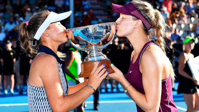 Un 1er titre pour Eugenie Bouchard en double