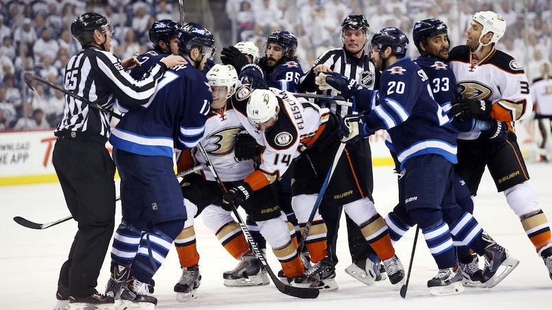 NHL: Stanley Cup Playoffs-Anaheim Ducks at Winnipeg Jets