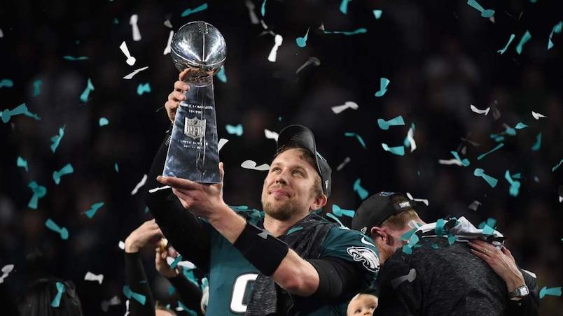 Le quart Nick Foles, héros du dernier Super Bowl